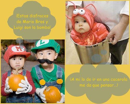 ¡Disfraces caseros inéditos: langosta y Mario Bros!