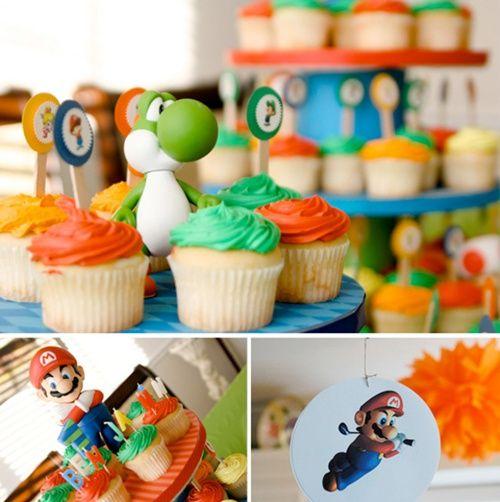 otra vista de los detalles de la fiesta Super Mario Bros
