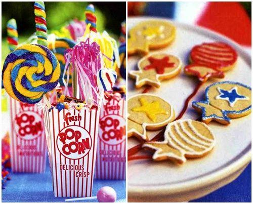 piruletas y cookies para una alegre fiesta