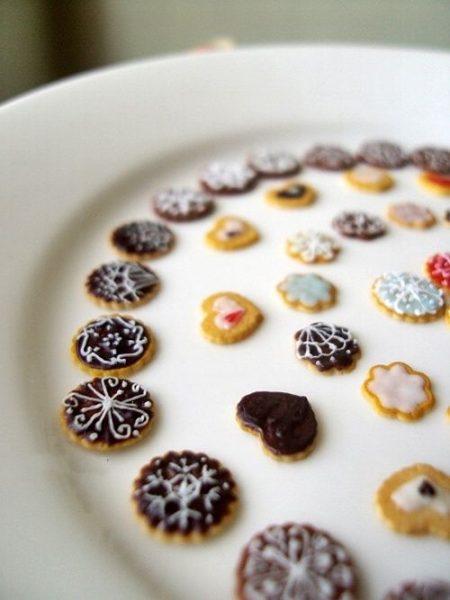 vista lateral galletas mini de navidad