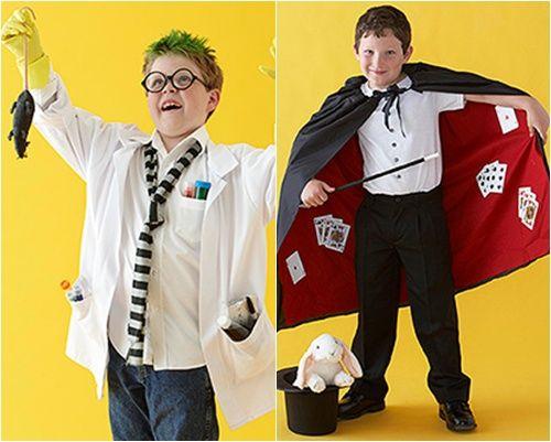 Disfraces caseros de mago y… ¡científico loco!