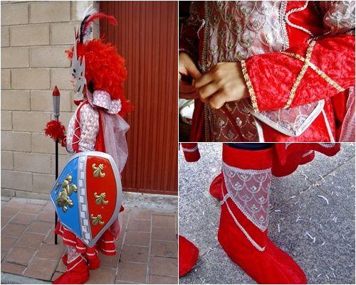 disfraz de lancera castellana y detalles