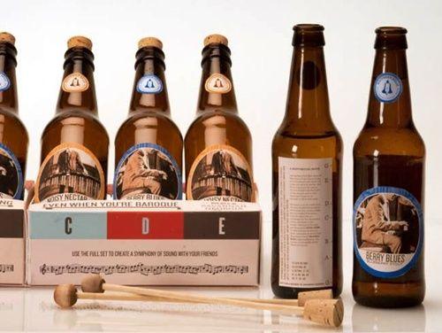 Idea de reciclaje: xilofón con botellines de cerveza