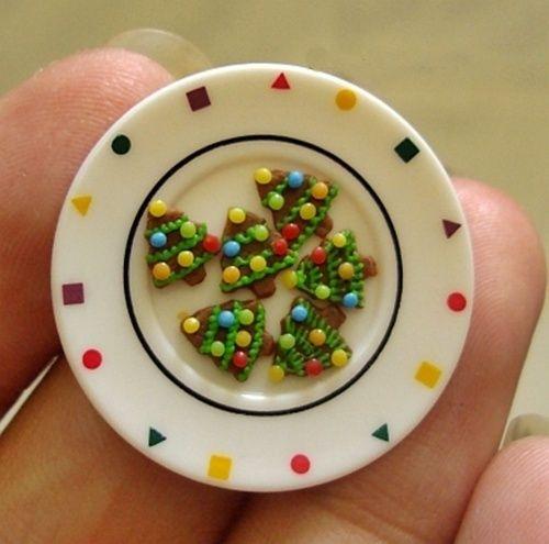 cookies mini en forma de abeto de navidad