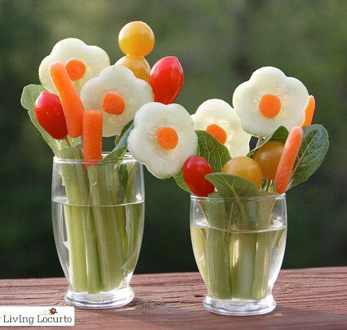 Ramilletes de verduritas para comer