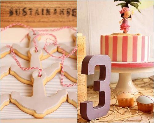 cookies y tarta fiesta pirata niñas