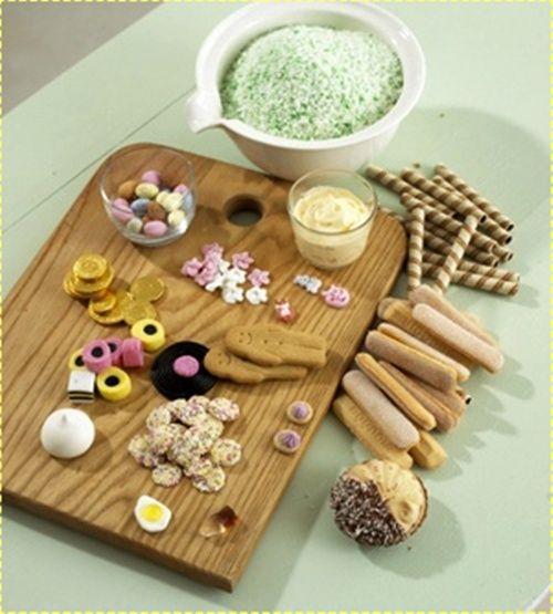 ingredientes de pastel de tren sin cocción