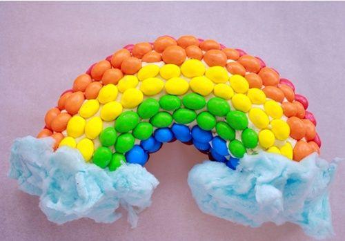 Tarta arcoíris, ¡bocados de gloria!