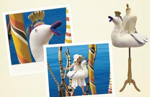 disfraz de cisne blanco