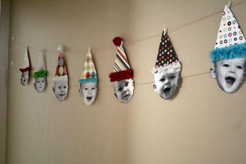 Fiesta de cumpleaños con conos de payaso