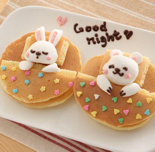 Pancakes creativos ¡mira que conejitos!