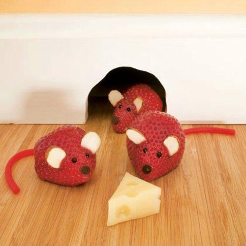 Ratoncitos de fresas, ¡y comerán la fruta sin rechistar!