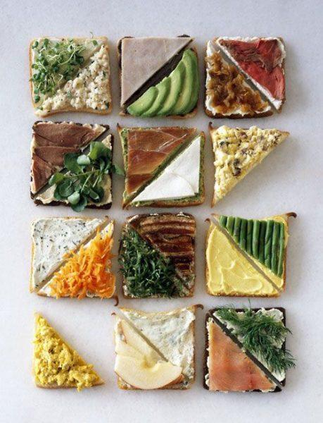 Sandwiches combinados con estilo