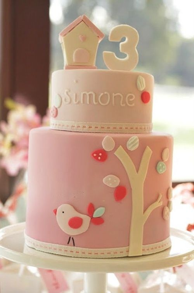 Delicadas tartas de cumple en rosa y azul para niño o niña…