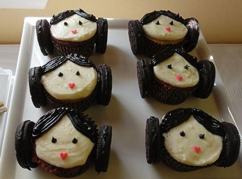 Cupcakes Princesa Leia