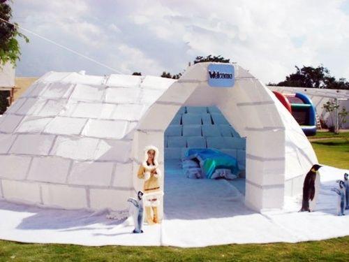 Fiesta igloo para celebrar el cumpleaños como esquimales