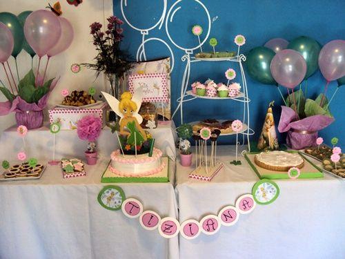 Preciosa fiesta Campanilla para el cumple de una niña