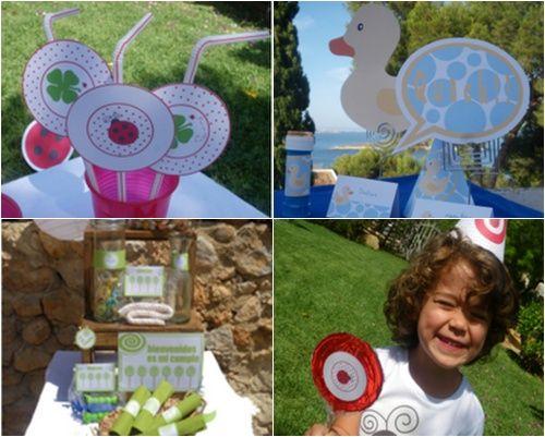 Diseños imprimibles para fiestas infantiles