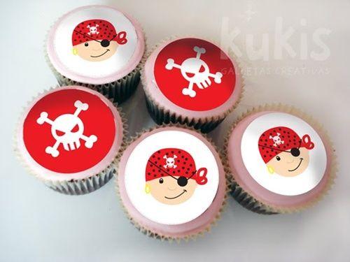 ¡Qué bonitas obleas para decorar cupcakes y tartas!