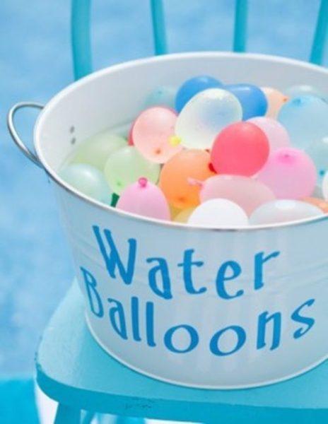 Globos de agua más chic para fiestas infantiles divertidas