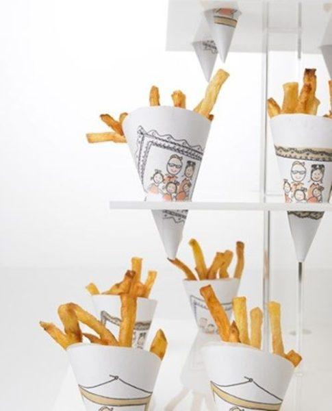 Cucuruchos para patatas fritas con un toque original