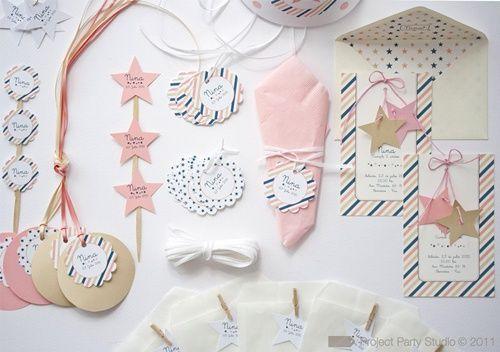 Un kit de cumpleaños 5 estrellas para niña