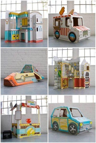 Bonitos diseños de juguetes en cartón reciclado