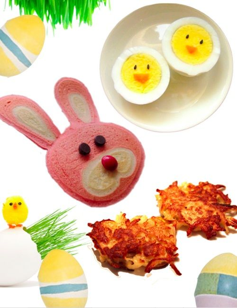 Meriendas con conejitos y pollitos para celebrar la Pascua