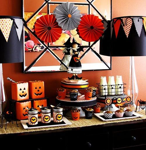 Mesa ideal para una fiesta Halloween