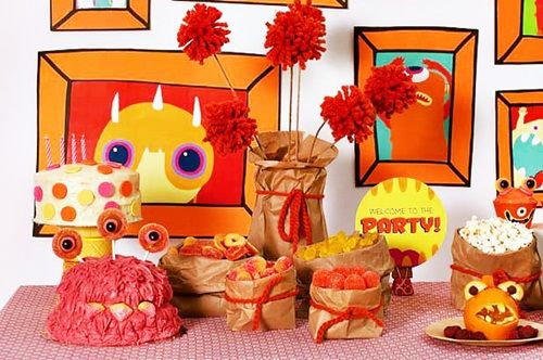 Fiesta monstruos infantil para celebrar Halloween o un cumple
