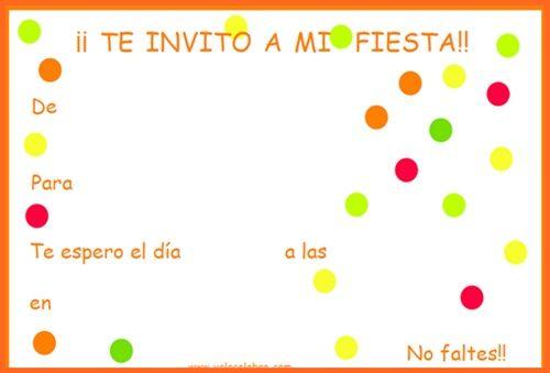Invitaciones De Cumpleaños Gratis Fiestas Y Cumples