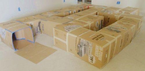 ¡Idea Halloween! Tunel de juegos con cajas recicladas