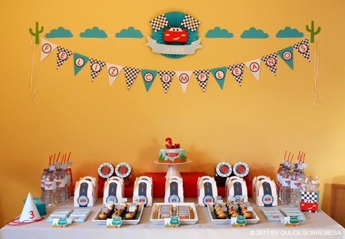 Fiesta de cumpleaños Cars con impecable puesta en escena