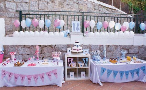 Genial Fiesta De Cumpleanos En Azul Y Rosa Para Nino Y Nina