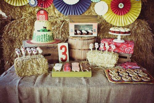Fiesta infantil 'baile vintage en el granero': ¡puro folk!
