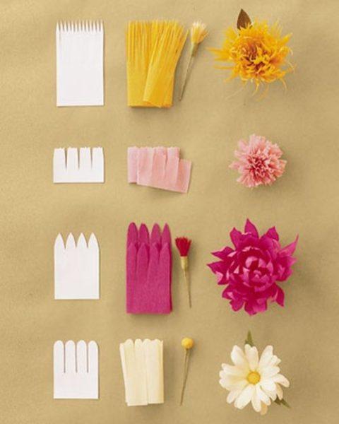 ¡Flower Power! Flores de papel crepe para hacer en casa