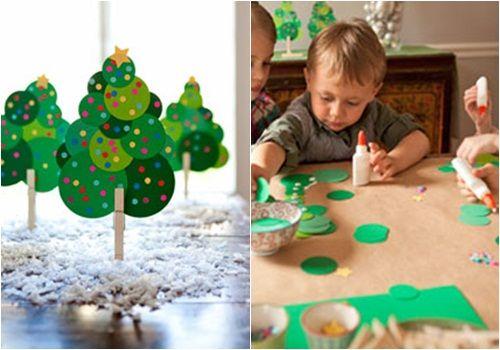 Manualidades fáciles con niños para decorar en Navidad