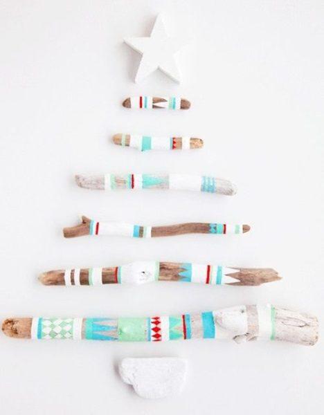 Árbol de Navidad étnico 'Colores del Mundo'
