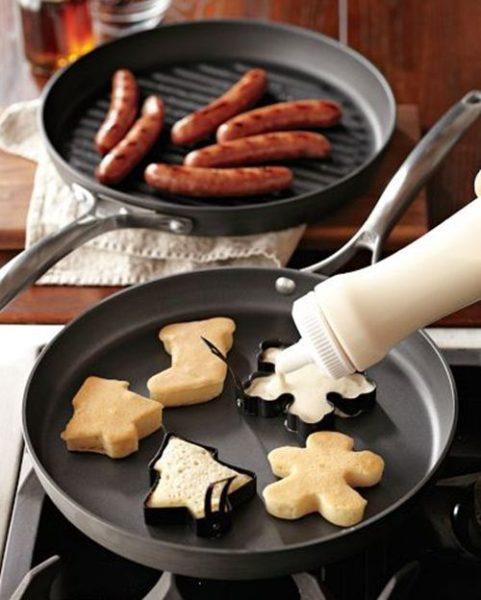 Idea fácil para hacer pancakes de Navidad