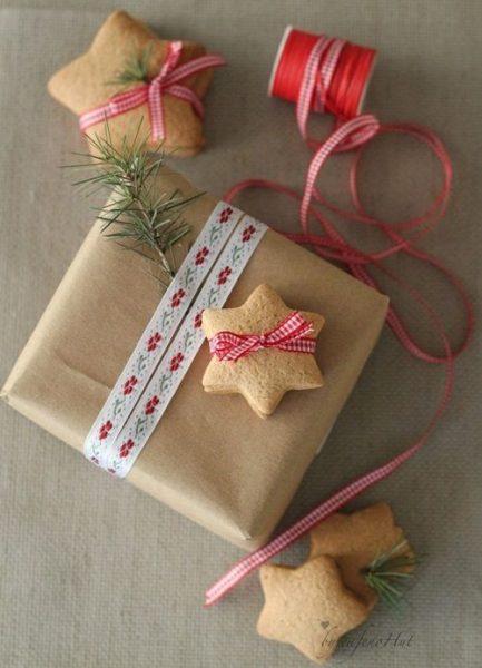 Idea vintage para envolver los regalos de Navidad