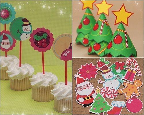 Ideas imprimibles para decorar e invitar en navidad - Decoracion de navidad para ninos ...