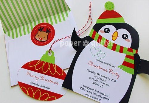 Ideas imprimibles para decorar e invitar en Navidad