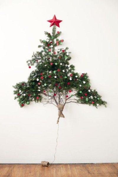 Idea para un árbol de Navidad muy natural