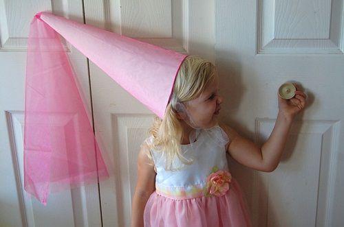 Disfraces caseros: sombrero de hada y princesa medieval
