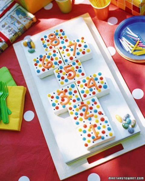 Un pastel ideal para una fiesta de lunares o topitos
