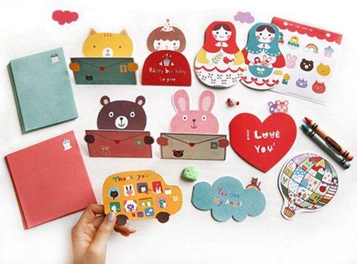 Divertidos objetos de papelería para niños