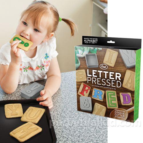 Moldes para estampar letras en las galletas