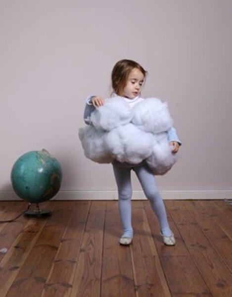 Disfraz casero de nube: ¡qué dulce y esponjoso!