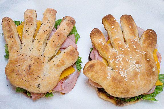 Recetas con niños…Sandwich-mano