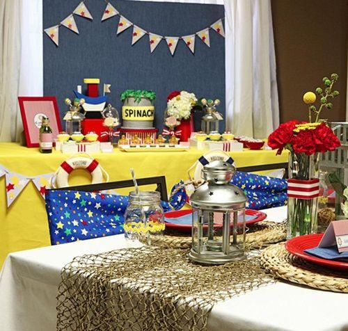 ¡Sensacional fiesta de Popeye para un baby shower!